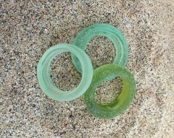 3 Large Glass Rings Lampwork Beads  SRA