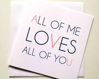 Luxury Linen All of Me... Greeting Card