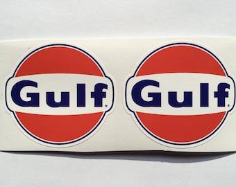 2 Gulf Oil & Gas Diecut Decals