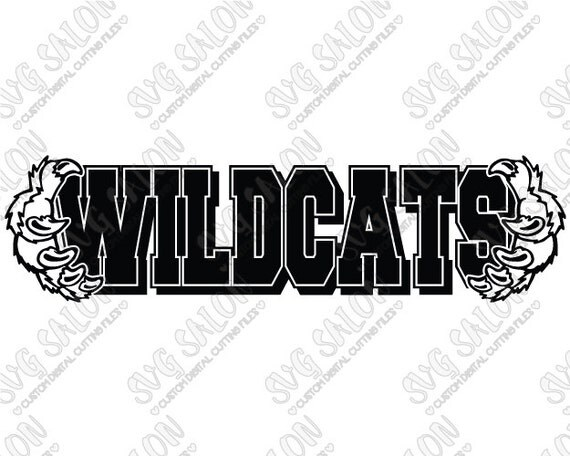 Wildcats High School University Team With Claws By Svgsalon