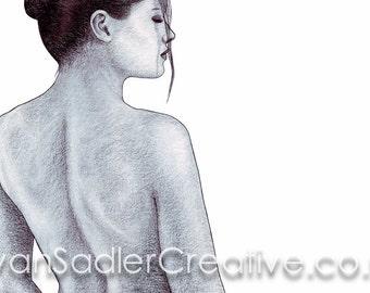 Sarah Scotchman - Overlooked - Conté on Board 43 x 30cm