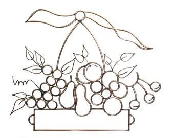 Copper Fruit Basket