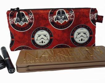 Star Wars Galactic Empire Makeup Bag, Gadget Bag, Pencil Case, Darth Vader, Stormtrooper, Handmade in the UK