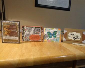 Four handmade card bundle