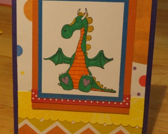 Colorful dragon card