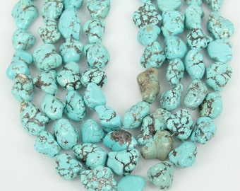 1000pcs    Blue Turquoise Howlite Nuggets Drilled Spacer Beads