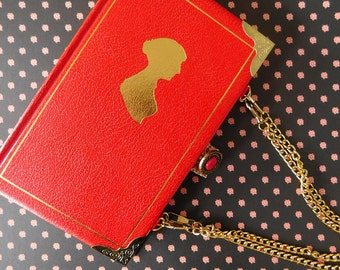 Jane Austen handbag - Persuasion - Upcycled book - Handmade - Bag made from a book