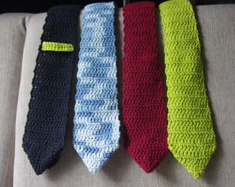 Men's Crochet Necktie - Pattern Only