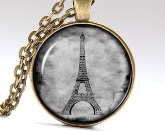 Paris Necklace, Eiffel Tower Pendant, France Jewelry Pendants Necklaces Jewellery LG031