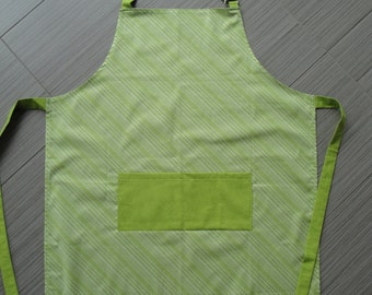 Apron - Lime green and White