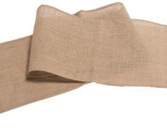 Burlap/Jute Table Runner With Cotton Canvas Frill 11.75''x71''