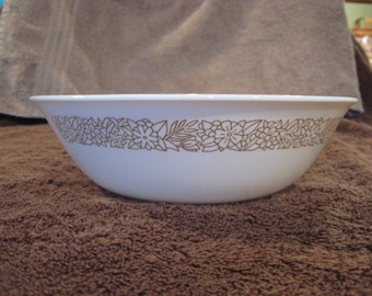 "Corelle 8.5"" Woodland Brown Serving Bowl"