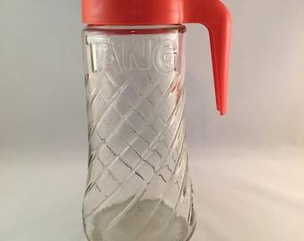 SALE - Vintage Glass TANG Pitcher