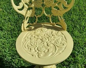 Pale Yellow Iron Garden Chair