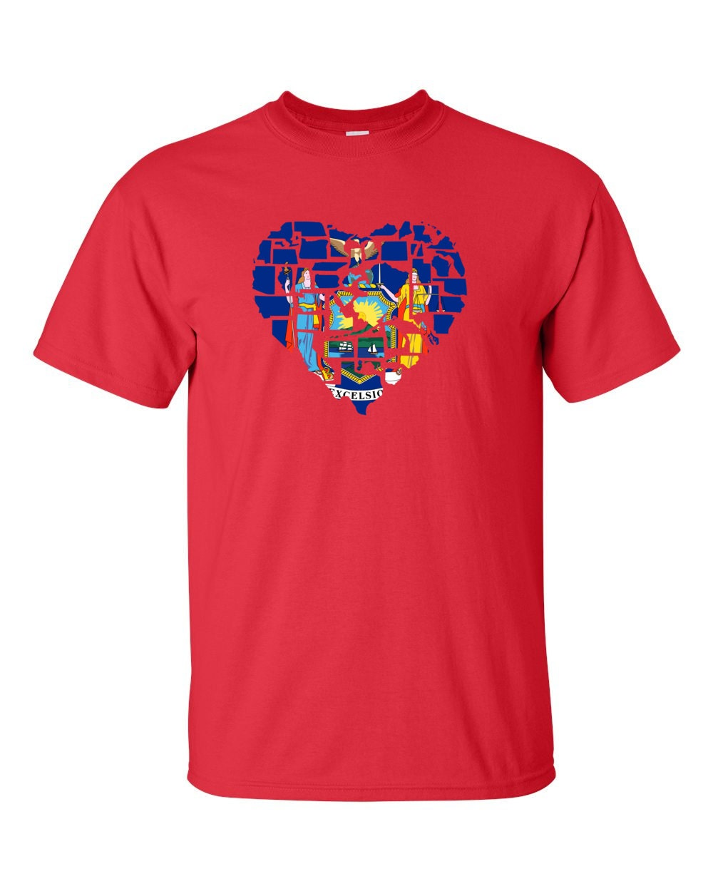 New York T-shirt - No Matter Where I Am, New York Is Alway In My Heart - My State New York T-shirt