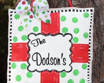 Burlap Christmas Gift Door Hanger