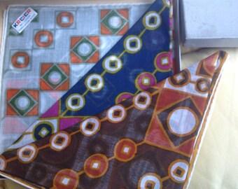 Three very chic hankerchiefs