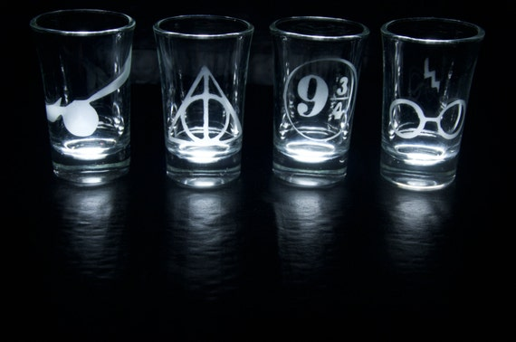 Harry Potter shot glasses
