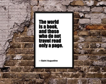 The world is a book quote. St. Augustine Quote
