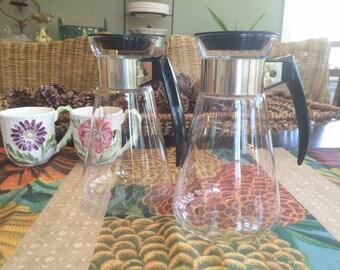 Corning Glass Coffee Pot Carafe Atomic Starburst Mid Century 2