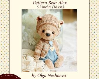 Pattern Teddy Bear Alex.