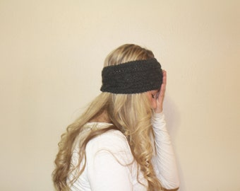 The Snow | Cable Charcoal Headband