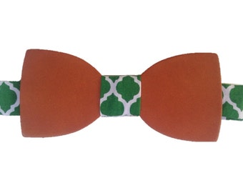 Handmade LEATHER BOW TIE - gift for him - Boyfriend gift - men gift - best man bow tie - weeding bow tie - woman bow tie - father's day