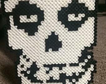 Misfits Fiend Skull Perler Bead Artwork