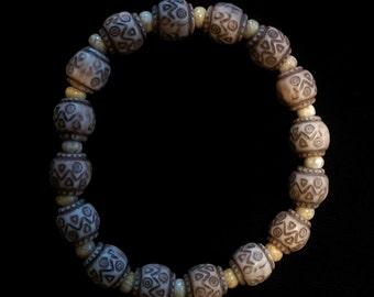 Aztec Print Beaded Bracelet