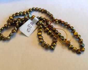 Bronze color fresh water pearls