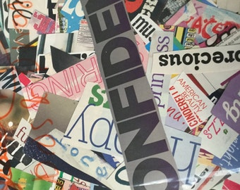 Over 1000 Pre-Cut Words and Phrases from Magazines