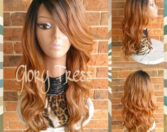 ON SALE // Long & Wavy Lace Front Wig, Ombre Lace Front Wig, Ombre Blonde Wig // EVERYTHING (Free Shipping)