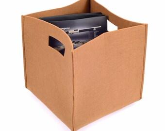 Home Storage Basket Sandstone Color, Felt Storage bin, Felt Storage Box, Household Storage Box in Sandstone Color (Express Shipping )