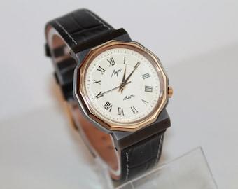 Soviet LUCH QUARTZ Watch 1980s.Soviet Quartz Wrist Watch Luch.Vintage Quartz Watch.Watch Working Condition 1980s!!!!