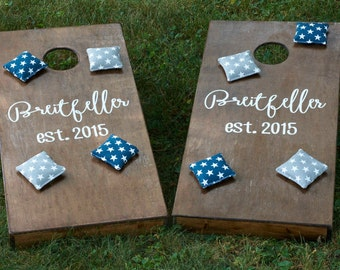 Custom Cornhole Boards & Plain Bags - Bean Bag Toss