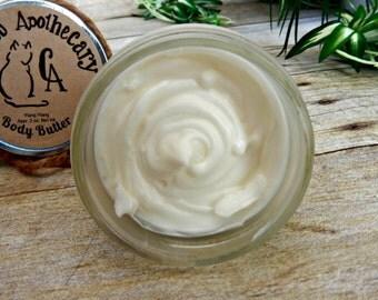 Ylang Ylang body butter - Natural body butter - Natural body lotion - Whipped Body Butter - Sensitive Skin - Paraben free - Handmade