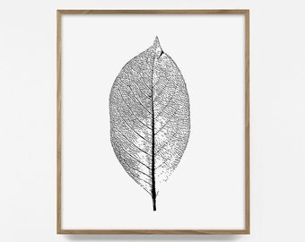 leaf, download, digital print, fall leaves, cabin decor, fall, autumn print, wood décor, tree print, forest art, rustic art, nature wood