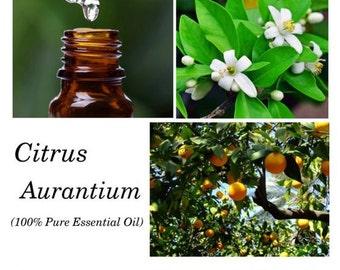 Petitgrain Essential Oil, Petitgrain Oil, Citrus aurantium oil – 100% Pure Authentic Petitgrain EO