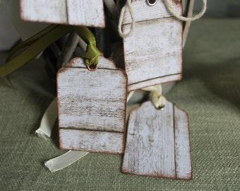 10 pz Tag segnaposto o regalo effetto legno vintage shabby chic set da 10pz