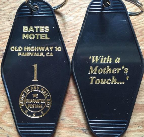 In Gold Psycho Bates Motel Room 1 Keychain Key Fob Horror
