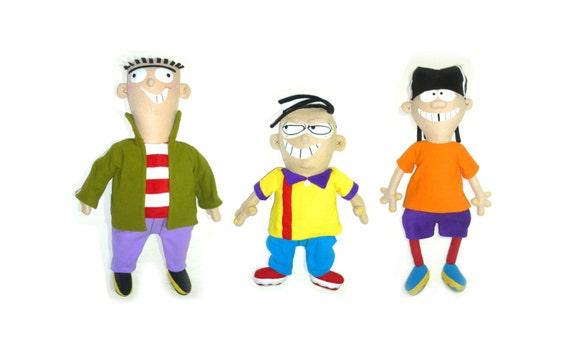 Сartoon characters Ed Edd n Eddy. Handmade multicolored.