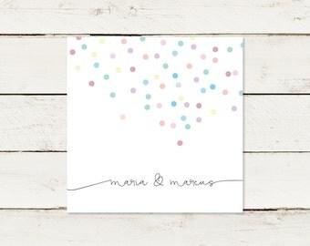 Wedding invitation | Square | Confetti
