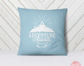 Adventure Awaits And I Must Go Wanderlust Mountains - Throw Pillow Case, Pillow Cover, Home Decor - TPC1061
