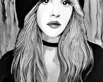 Stevie Nicks Acrylic Painting Print/Poster...x