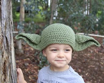 Yoda Costume -Yoda Inspired Beanie - Yoda Outfit