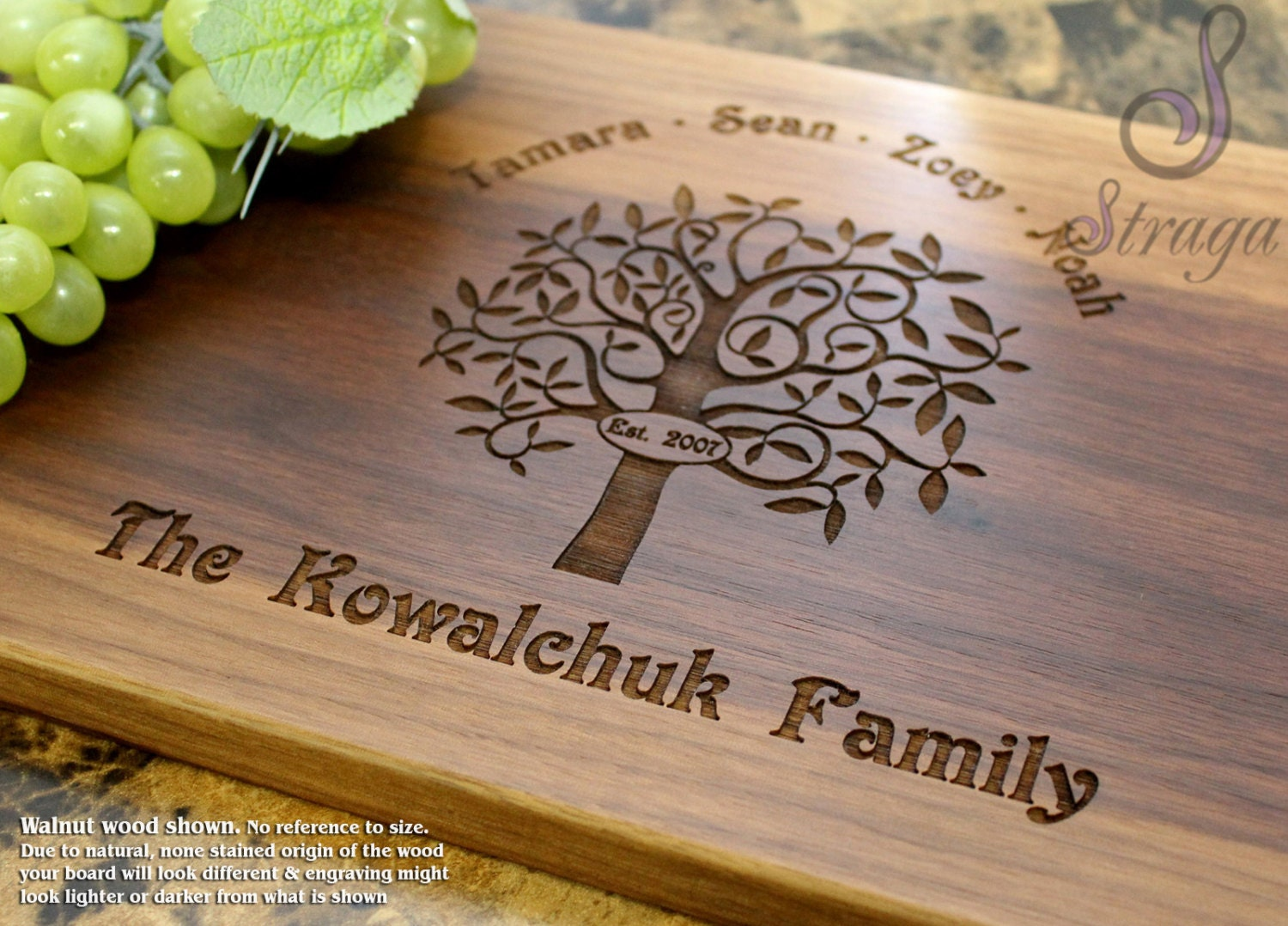 Wedding Gift Canada: Personalized Engraved Cutting Board Wedding Gift Anniversary