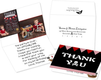 Pirate Themed Thank You Cards