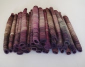 Huge puni-style rolags set - handdyed merino wool blend, 30 pieces, 130 grams / 4.6 oz in total - Berries