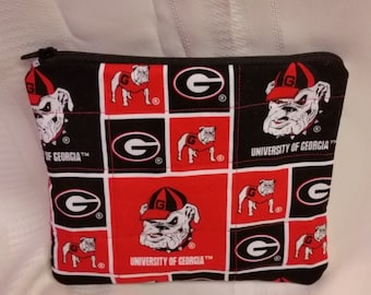 Bulldogs Quilted Makeup Bag Georgia
