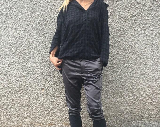Cotton Pants, Women's Pants Side Pockets, Oversize Design Pants, Extravagant Pants, Maxi Harem Pants, Wide Leg Pants by SSDfashion